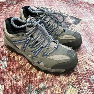 Dunham gray Steel Toe Trail Mix hiking shoes